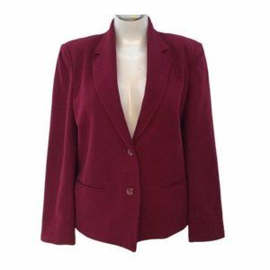 Nordstrom (4) Vintage Blazer Red Wool Blend